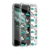 ZhuoFan Funda iPhone 11 Pro MAX, Cárcasa Silicona Transparente con Dibujos...