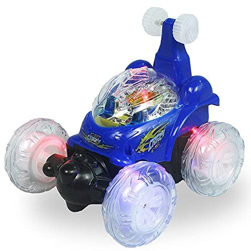 LQZCXMF Carga con Control Remoto Camión Volquete Stunt Car Roll 360 ° Flips Rotating Electric Remote Control Car Coche De Juguete para Niños para Niños Niñas Regalo De Cumpleaños Stunt Climbing Car