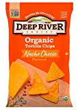 Deep River Snacks Organic Tortilla Chips, Nacho Cheese, Gluten Free, Non Gmo, 12 Count
