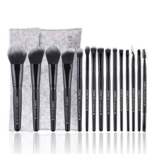 Xiton 15PCS Premium-Make-up-Pinsel-Set Synthetic Fiber Borste Kosmetik Pinsel Foundation Blending...