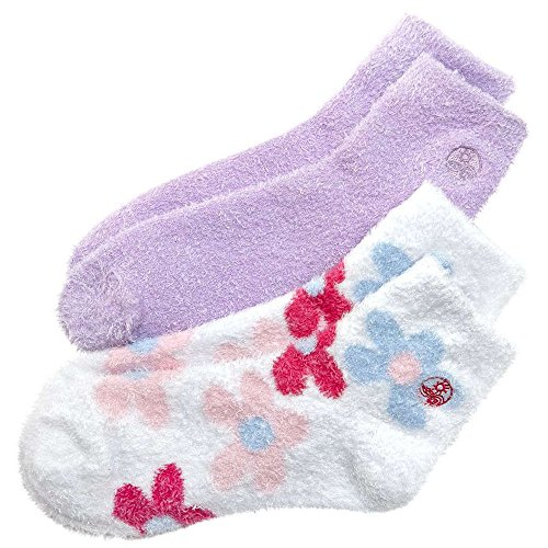 Aloe Therasoft Moisturizing Socks: 2 Pack Lavender & Flowers by Earth