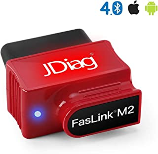 JDIAG Enhanced Bluetooth Obd2 Scanner,Car Engine Code Reader Professional Vehicle Diagnostic Tool for IOS and Android,With Voice Control Function
