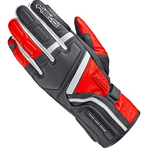 Held Motorradhandschuhe lang Motorrad Handschuh Travel 5 Handschuh schwarz/rot 9, Herren, Sportler, Sommer, Leder