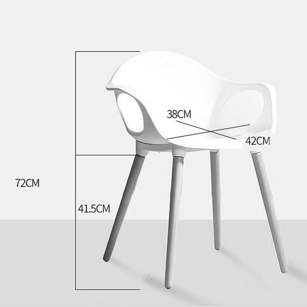 WDX- Chaise de salle à manger en bois massif Créativité Moderne Fauteuil de bureau simple Chaise en plastique à usage domestique mode (Color : D) B