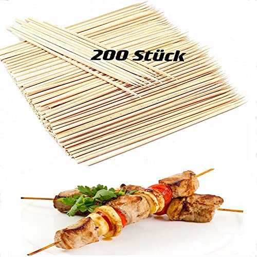 Jaesy Lee Brochettes pour Barbecue Piques Bois 200 PCS 30cm Longue Pic a Brochette Pique a Brochette