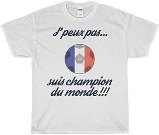 9f06109993ca0 fashion boutik Tee Shirt Maillot garçon Enfant Foot Football Coupe du Monde  j Peux Pas suis