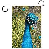 ガーデンフラッグ両面印刷防水動物ヒョウプリント山の木 庭、庭の屋外装飾用