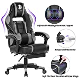 KILLABEE Massage Gaming Chair High Back PU Leather PC Racing Computer...
