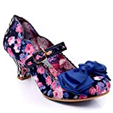 Donna Irregular Choice Estate Breeze Floreale Tacco Basso Mary Jane - Blu Floral - 40...