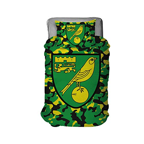 Norwich City Football Club Officially Licensed Goods (Camo Bedding)
