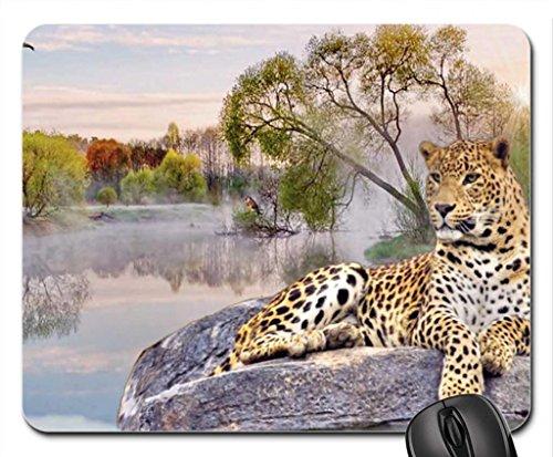 Leopard resting Mouse Pad, souris (Cats Mouse Pad)