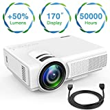 TENKER Q5 Mini Projector 1080P Supportted, with Big Display LED...