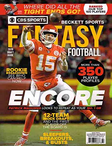 Beckett Fantasy Football Magazine ENCORE