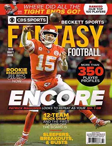 Beckett Fantasy Football Magazine 2019 (++ FREE GIFT) ENCORE CBS Sports