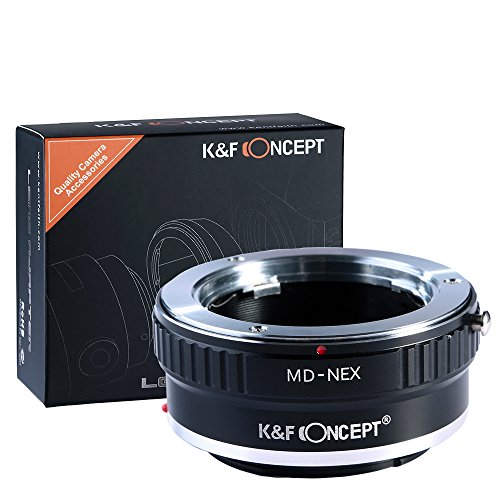 K&F Concept マウントアダプター Minolta MD MCレンズ- Sony NEX Eカメラ装着用レンズアダプターリング マウント変換アダプター Sony NEX-3 NEX-3C NEX-5 NEX-5C NEX-5N NEX-5R NEX-6 NEX-7 NEX-F3 NEX-VG10 VG20専用 MD-NEX