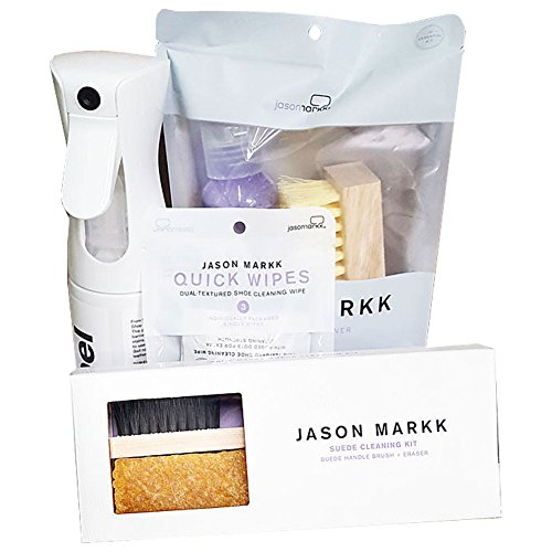 Jason Markk Jason Markk Unisex Repel Spray, Essential Kit, Suede Kit and Shoe Wipes White