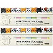 Wrapables A67779 Bookmark Flag Tab Sticky Notes, Kitties, Set of 2