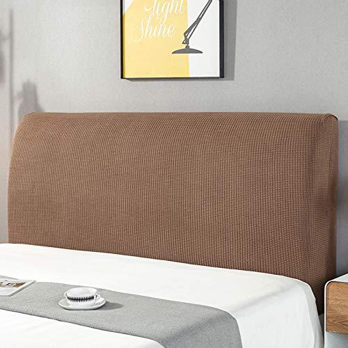 ZCRFYY Cubierta de cabecera con Todo Incluido Cubierta Antipolvo Cubierta Protectora de Tela elástica Cabecera de Cubierta Suave de 120 cm-220 cm,Marrón,180cm