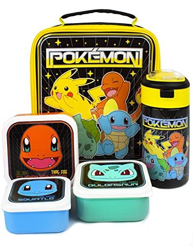 Pokemon Sac à lunch 5 pièce (bouteille d'eau de sac de nourriture 3 pots Snack taille unique