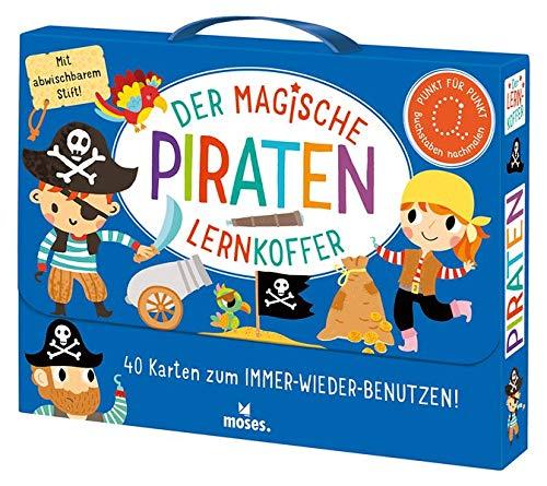 Der magische Lernkoffer Piraten: 40 Karten zum IMMER-WIEDER-BENUTZEN!