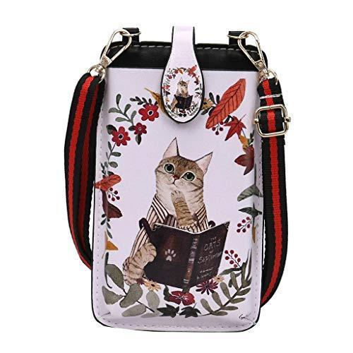 Btruely Mode Frauen Umhängetasche Brieftasche Frauen Pu Leder Lady Clutch Bag Telefon Weibliche Münzgeldbörse Umhängetaschen Für Frau,Handytasche Brieftasche Muttertagsgeschenk