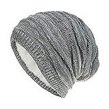 Wallfire Winter Baggy Hat Warm Soft Fleece Knitted Oversized Slouchy Beanie Cap for Men Women