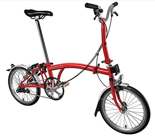 Brompton M3l 2017Rouge Vélo pliable 3vitesses