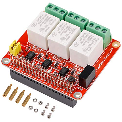 Seamuing Raspberry Pi 5V 3 Channel Relay DC Relay Shield Module Control Board with Optocoupler for Raspberry Pi 4B / 3B / Zero Voice Control Smart Home