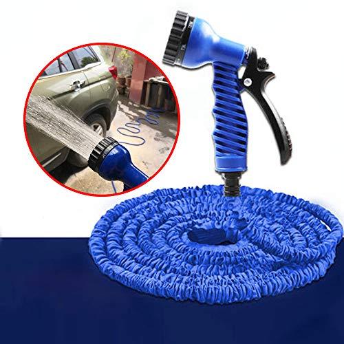 AFAGC tuinslang uitbreidbare slangbuis flexibele magische slang met multifunctionele spuitpistool/slang snelkoppeling - tuinslang mondstuk waterpistool kit (grootte: 7.5-22.5Meter)