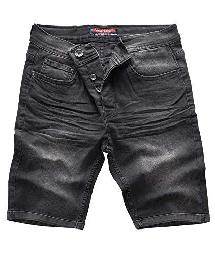Rock Creek Herren Shorts Jeansshorts Denim Short Kurze Hose Herrenshorts Jeans Sommer Hose Stretch Bermuda Hose Grau RC-2202 Revogrey W38