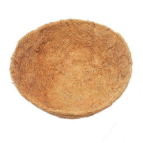 Luckything plantenbak voor hangmand, hangmand, vervangend inzetstuk hangmand Ø 20 cm, kokosinzetstuk, hangmandje, natuurmand bruin kokosvezel hangmand tuin pot bloemen ophanghouder