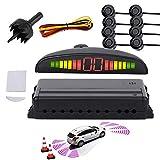 Hengda 8 Sensor Aparcamiento Kit estacionamiento Trasera estacionamiento Ayuda sensores con Pantalla LED Buzz Alerta