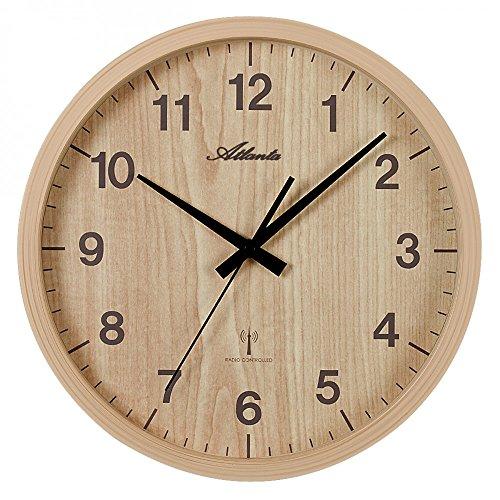 Atlanta Uhren 4438/30 Funk Wanduhr 265 mm Erle