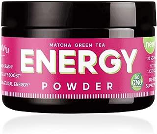 Energy Powder - Natural Caffeine - Focus & Brain Boost Formula - Nootropic - No Crash & No Sugar (20 Servings) Matcha Green Tea, Guarana, L-Theanine, Eleuthero – Plant Based Energy - 0 Cal | 1.1oz