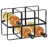 mDesign Botellero para vino – Estante para botellas de atractivo diseño – Botellero...