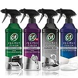 Cif Perfect Finish Spray 435 ml, paquete de 4 (acero inoxidable, antimoho, horno y parrilla, anticalcárea)