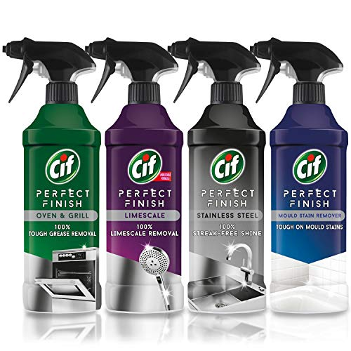 Cif Perfect Finish Spray 435 ml (acier inoxydable, anti-moisissure, four et gril, anticalcaire)
