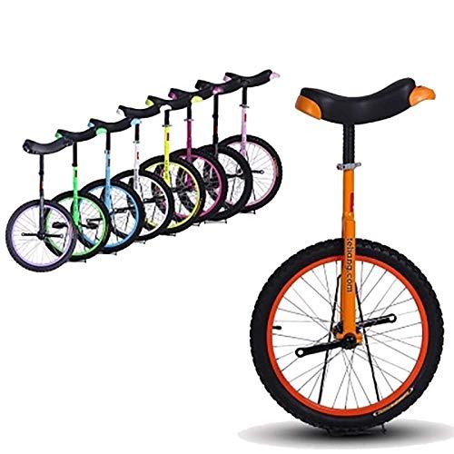 JMSL Einrad 18-Zoll-Rad Einrad fur Kinder/Jugendliche/Anfanger/Trainer, 12-15-jahrige Kinder, Fahrrader mit Bequemem Sattel (Color : Orange)