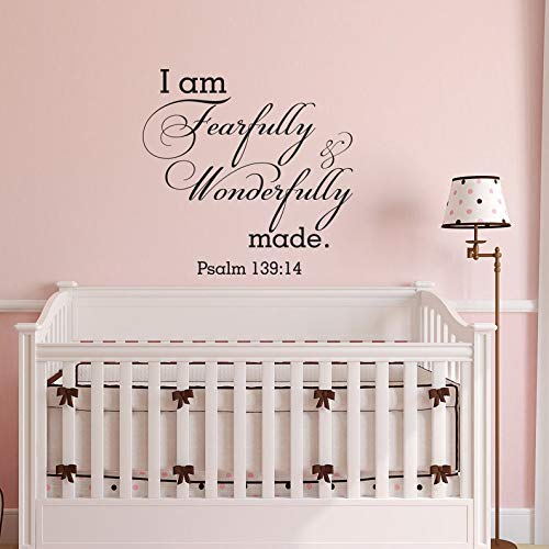 WallStickers-Extra Sticker mural en vinyle Inscription I Am Fearfully and Wonderfully Made Psaum 139:14