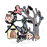 Schmuck Weihnachten Hund Brosche Für Frauen Kinder Legierung Mode Blau Emaille Eule Schmetterling...