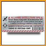n. 4 - adesivi satellitari antifurto gps per interno auto - adesivi allarme gps antifurto - adesivo antifurto satellitare gps per camion autoveicoli - veicolo controllato