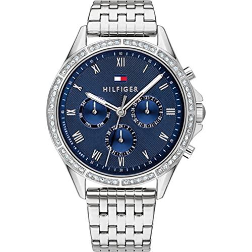 Tommy Hilfiger Damen Analoger Quarz Uhr mit Edelstahl Armband 1782141