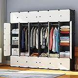 JYYG Portable Wardrobe Closets 14'x18' Depth Bedroom Armoire,...