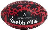 Webb Ellis Maori Extreme Rugby Ballon d'entraînement–Noir/Rouge, Taille 3