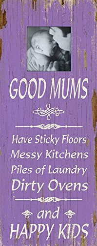 Grand cadre photo en bois art mural Lilas – Good Mums Happy Kids