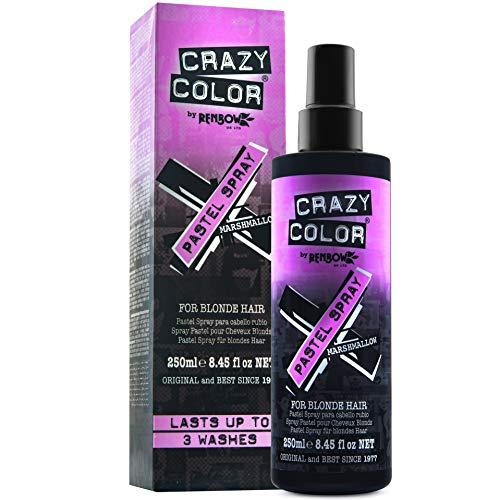 Crazy Color, temporäres Spray zur Aufrechterhaltung der Haarfarbe 250 ml Marshmallow