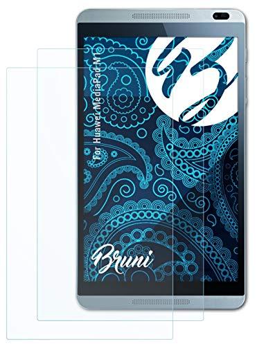 Bruni Schutzfolie kompatibel mit Huawei MediaPad M1 Folie, glasklare Bildschirmschutzfolie (2X)