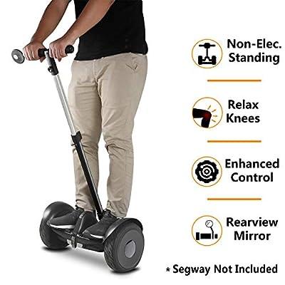 AUBESTKER Handlebars Kit for Segway Ninebot S MiniLITE, Control Speed and Balance, Kids - Elderly - Office Women Men - Safety Upgrade