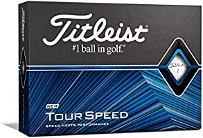 Titleist Tour Speed Golf Balls, White, (One Dozen)