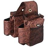 Tough-1 Printed Saddle Bag Brown Tooled